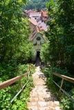Ciudadela de la ciudad de Brasov vista después de las paredes en la ciudad vieja de Brasov Fotografía de archivo libre de regalías