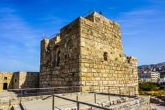 Ciudadela 11 de los cruzados de Byblos foto de archivo libre de regalías