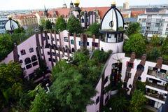 Ciudadela del verde del ` s de Hundertwasser de Magdeburgo fotos de archivo