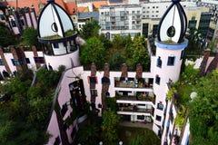 Ciudadela del verde del ` s de Hundertwasser de Magdeburgo foto de archivo libre de regalías