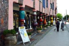 Ciudadela del verde del ` s de Hundertwasser de Magdeburgo imágenes de archivo libres de regalías