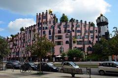 Ciudadela del verde del ` s de Hundertwasser de Magdeburgo fotos de archivo libres de regalías