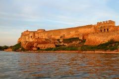 Ciudadela en el estuario de Dniéster imagen de archivo