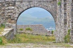 Ciudadela en Gjirokaster, Albania Foto de archivo