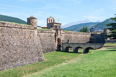 Ciudadela of Jaca. A military fortification in Spain stock images