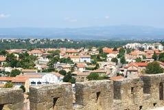 Ciudadela medieval de Carcasona, Francia Imagen de archivo libre de regalías