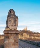 Ciudadela medieval La fortaleza de Tsarevets Foto de archivo libre de regalías