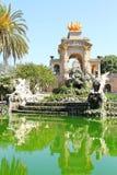 Ciudadela Park. Fountains at Parc de la Ciutadella. The Parc de la Ciutadella is a park in Ciutat Stock Image