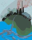 Ciudades contaminadas libre illustration