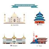 Ciudades de capitales del mundo Imágenes de archivo libres de regalías