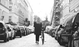 Ciudades de Dinamarca del viaje de Europa imagen de archivo