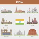 Ciudades de la India stock de ilustración