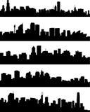 Ciudades del panorama Foto de archivo