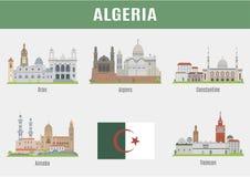 Ciudades en Argelia stock de ilustración