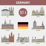 Ciudades famosas de los lugares en Alemania ilustración del vector