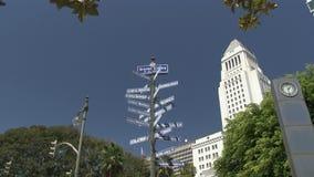 Ciudades hermanas Los Ángeles almacen de video