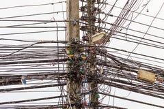 Ciudades industriales del fondo de la base tradicional del modelo de Asia del cableado de Tailandia Vietnam fotografía de archivo libre de regalías