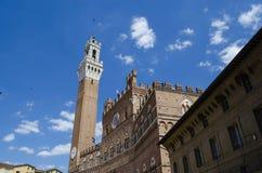 Ciudades italianas medievales de Siena Foto de archivo libre de regalías
