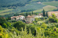 Ciudades italianas - San Gimignano Fotografía de archivo libre de regalías