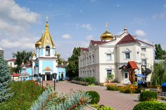 Ciuflea AKA Sf Teodor Tiron Monastery sikt Royaltyfri Bild