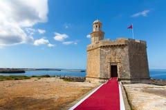 Ciutadella человеческий замок de Sant Nicolas Castillo San Nicolas Стоковые Изображения