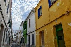 Ciutadella de menorca au cours de la journée Photos libres de droits