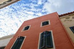 Ciutadella DE menorca in de loop van de dag Stock Afbeeldingen