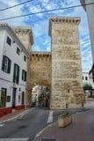 Ciutadella DE menorca in de loop van de dag, Spanje Stock Afbeeldingen