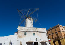 Ciutadella Es Moli windmill in Ciudadela Menorca Royalty Free Stock Photo