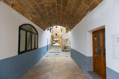 Ciutadella Menorca barrel vault passage downtown Stock Photography