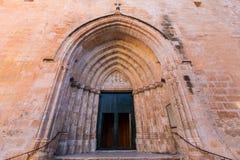 Ciutadella Menorca Cathedral side door detail at Balearics. Ciutadella Menorca Cathedral side door detail at Balearic islands Royalty Free Stock Images