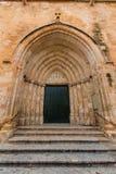 Ciutadella Menorca Cathedral side door detail at Balearics. Ciutadella Menorca Cathedral side door detail at Balearic islands Royalty Free Stock Photo