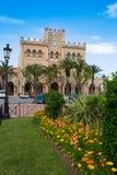 Ciutadella Menorca city Town Hall and gardens Royalty Free Stock Photo