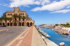 Ciutadella Menorca city Town Hall and Port Royalty Free Stock Photos