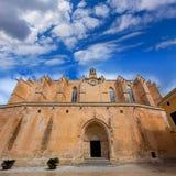 Ciutadella Menorca katedra w Ciudadela przy Balearic Obraz Stock
