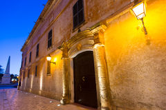 Ciutadella Menorca Major street in downtown Ciudadela Royalty Free Stock Photography