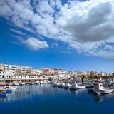 Ciutadella Menorca marina Port boats Balearic islands Royalty Free Stock Photo
