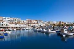 Ciutadella Menorca marina Port boats Balearic islands Stock Image