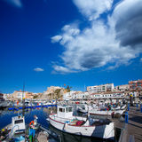 Ciutadella Menorca marina Port view Town hall Stock Photos