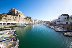 Ciutadella Menorca marina Port view Town hall Royalty Free Stock Photo