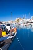 Ciutadella Menorca marina Port view Town hall Royalty Free Stock Photography