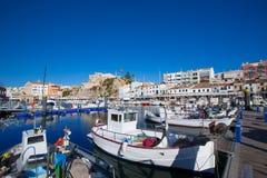 Ciutadella Menorca marina Port view Town hall Royalty Free Stock Image