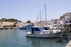 Ciutadella Menorca portuario España Fotografía de archivo libre de regalías