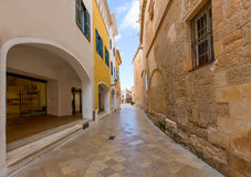 Ciutadella Menorca Ses Voltes arches Ciudadela Royalty Free Stock Photo