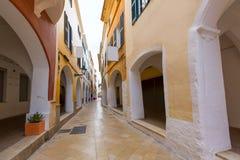 Ciutadella Menorca Ses Voltes arches Ciudadela Stock Photos