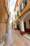 Ciutadella Menorca Ses Voltes arches Ciudadela Royalty Free Stock Photos