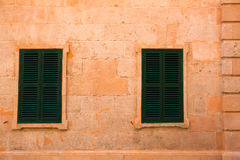 Ciutadella Menorca wooden shutter window Royalty Free Stock Image