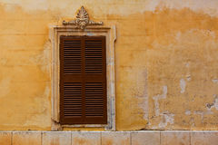 Ciutadella Menorca wooden shutter window Stock Photos