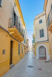 Ciutadella old town narrow pedestrian street Royalty Free Stock Photography