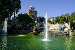 Ciutadella park in barcelona Royalty Free Stock Image